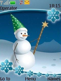 Тема маг снеговик (Snowman Magician) для Нокиа
