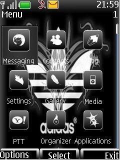 Тема логотип Адидас (Adidas logo) для Nokia