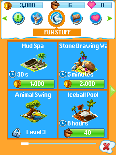 Игра Деревня ледникового периода (Ice age village) на Nokia