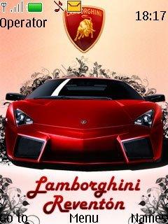Тема Lamborghini Reventon на телефон