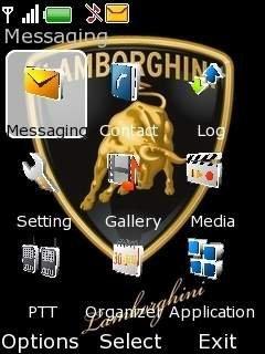 Тема логотип Ламборгини для Нокиа