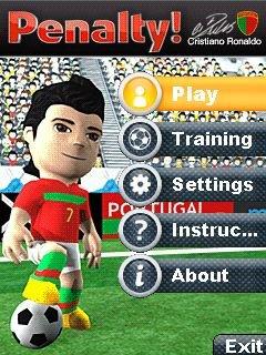 Игра Пенальти Криштиану Роналду 3D (Penalty Cristiano Ronaldo 3D) для сенсорных телефонов