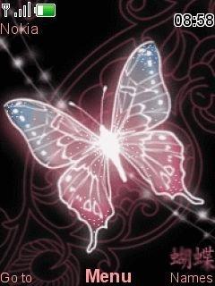 Тема сияющая бабочка для Нокиа