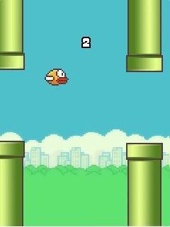 Игра Летящая птица (Flappy bird) для Nokia
