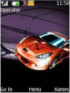 Тема оранжевый спортивный автомобиль для Нокиа телефона