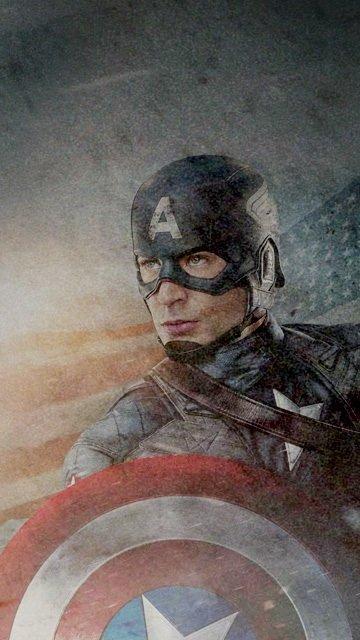 Картинка Капитан Америка для телефона