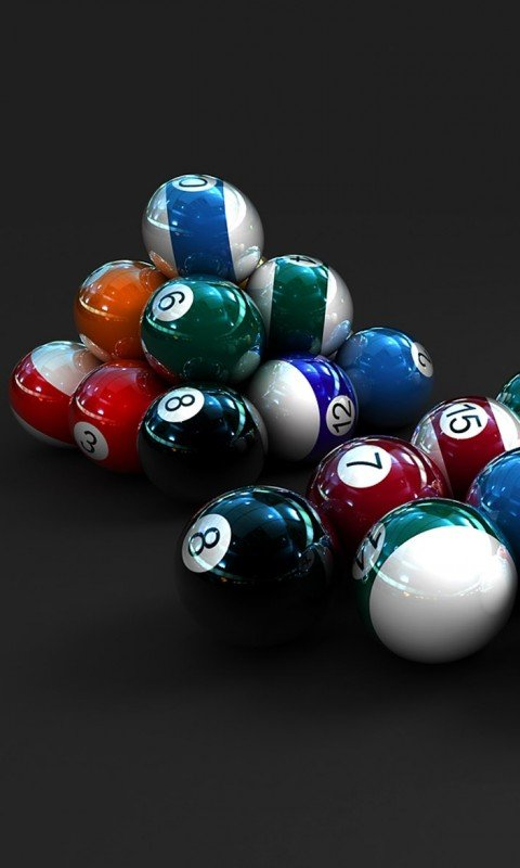 Картинка бильярдные шары (Billiards Balls) 480x800