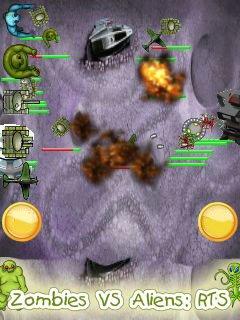 Игра Zombies vs aliens: RTS (Зомби против чужих: Стратегия)