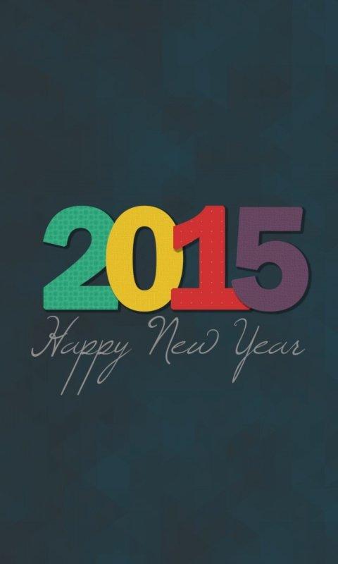 Happy New Year 2015 480x800 скачать