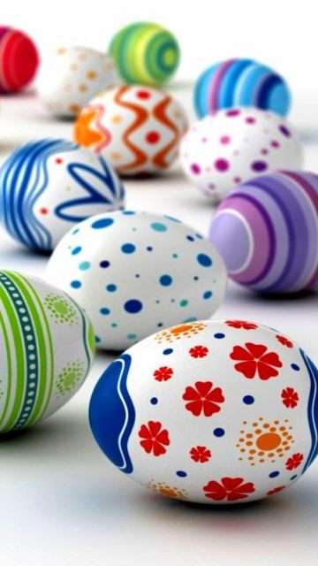 Картинка Painted Easter eggs 360x640