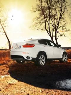 BMW X6 white 240x320