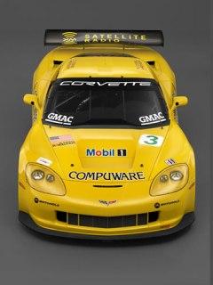 Chevrolet Corvette yellow 240x320