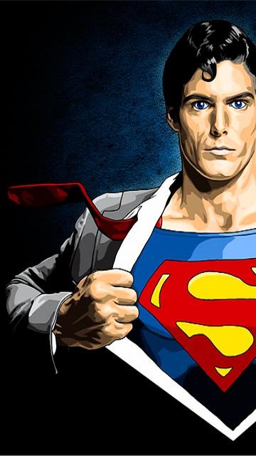Картинка Супермен 360x640