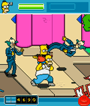 Игра The Simpsons Arcade (Симпсоны: Аркада) на нокиа
